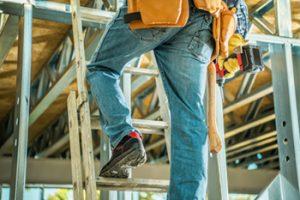 man on stepladder